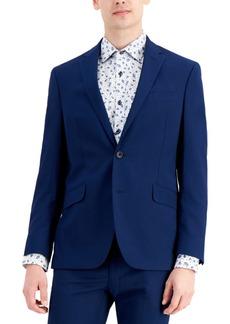 Kenneth Cole Reaction Men's Techni-Cole Blue Suit Separate Slim-Fit Suit Jacket