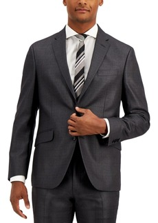 Kenneth Cole Reaction Men's Techni-Cole Gunmetal Suit Separate Slim-Fit Jacket