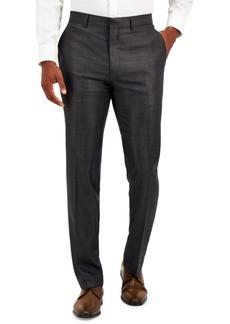 Kenneth Cole Reaction Men's Techni-Cole Charcoal Suit Separate Slim-Fit Pants