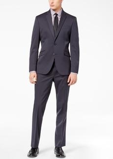 Kenneth Cole Reaction Men's Techni-Cole Gunmetal Solid Slim-Fit Suit