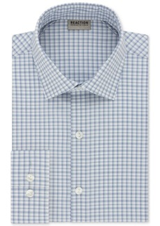 Kenneth Cole Reaction Men's Techni-Cole Slim-Fit Flex Collar Broadcloth Blue Dress Shirt