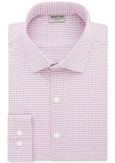 Kenneth Cole Reaction Men's Techni-Cole Slim-Fit Flex Collar Performance Pink Check Dress Shirt