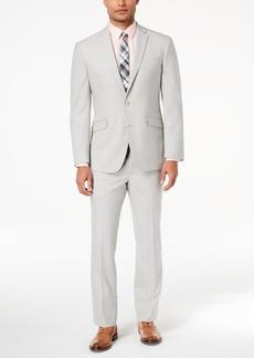 Kenneth Cole Reaction Men's Techni-Cole Slim-Fit Stretch Light Gray Suit