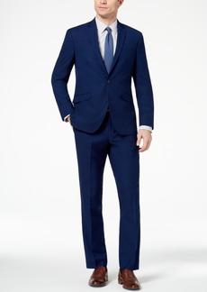 Kenneth Cole Reaction Men's Techni-Cole Slim-Fit Stretch Modern Blue Solid Suit