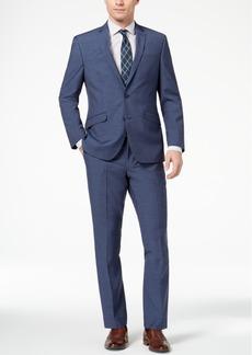 Kenneth Cole Reaction Men's Techni-Cole Slim-Fit Stretch New Blue Textured Suit