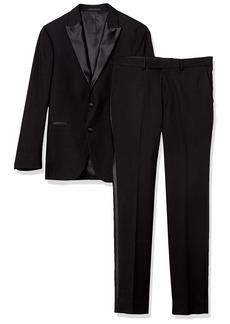 Kenneth Cole REACTION Men's Techni-Cole Slim Fit Stretch Tuxedo   Regular