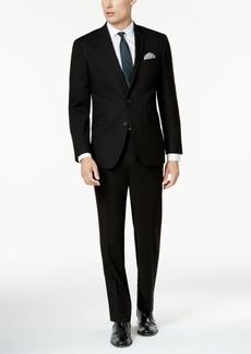 Kenneth Cole Reaction Men's Techni-Cole Solid Black Slim-Fit Suit