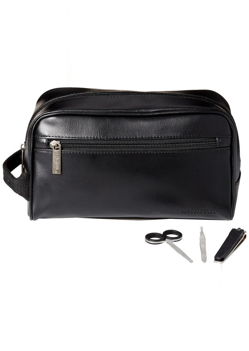 Kenneth Cole Reaction Men S Travel Toiletry Bag Shaving Kit With 3 Piece Manicure Set Black