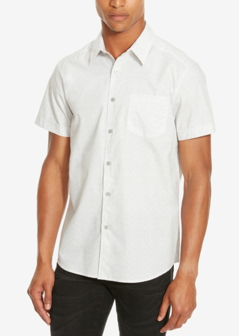 Kenneth Cole Reaction Men's Waterfall Print Short-Sleeve Shirt
