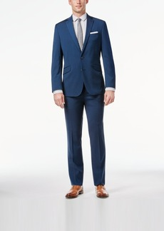 Kenneth Cole Reaction Midnight Blue Sharkskin Slim-Fit Suit