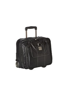 Kenneth Cole Pebbeled Vinyl Double Gusset Top-Zip Wheeled Computer Case