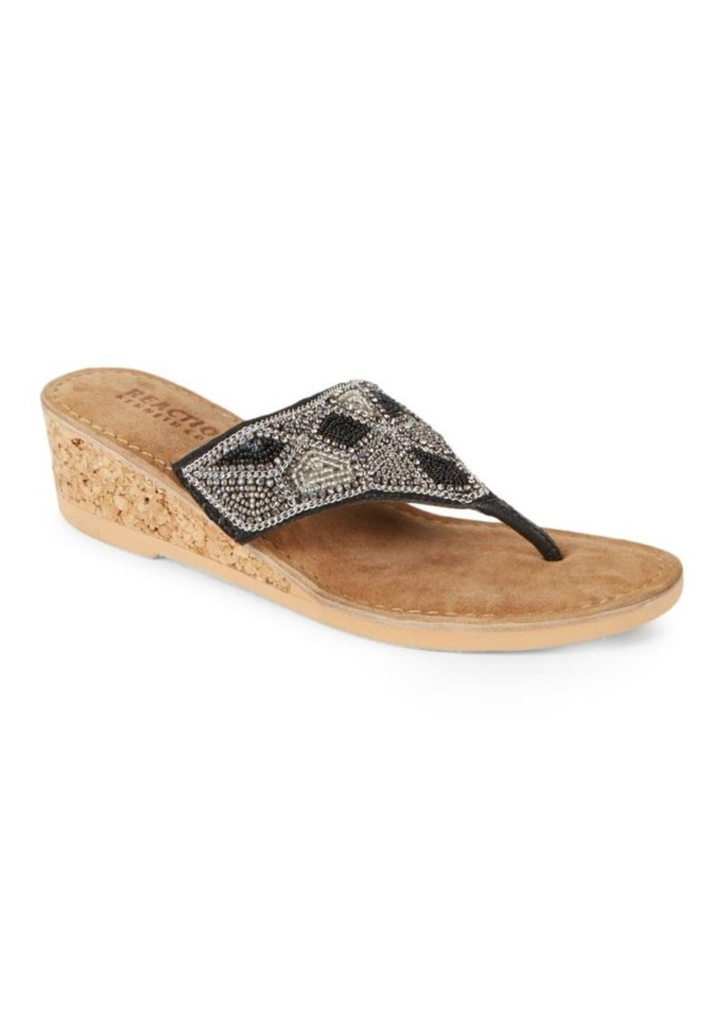 d67b813b1 Kenneth Cole Kenneth Cole REACTION Playful Embellished Thong Wedge ...