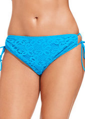 Kenneth Cole Reaction Plus Size Crochet Side-Tie Bikini Bottom