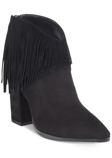 Kenneth Cole Reaction Pull Ashore Fringe Booties Women's Shoes