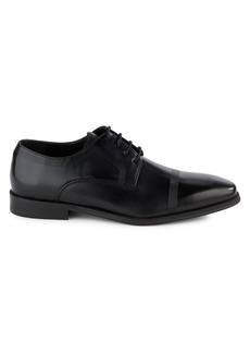 Kenneth Cole REACTION Rib-Trim Leather Derby Shoes