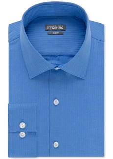 Kenneth Cole Reaction Slim-Fit Dry-Tek Performance Tonal Stripe Dress Shirt