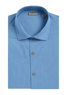Kenneth Cole REACTION Slim-Fit Gingham Print Dress Shirt