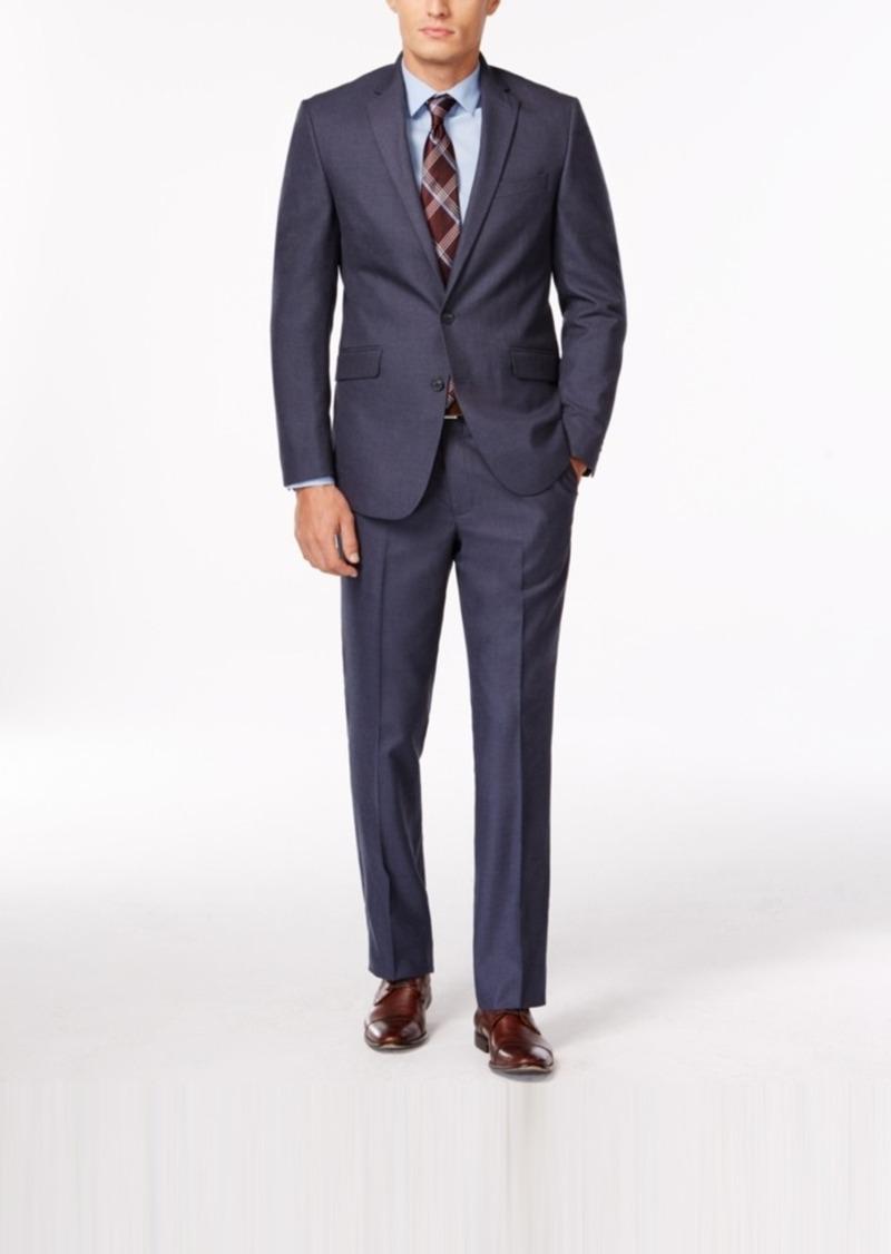 Kenneth Cole Reaction Slim-Fit Light Blue Sharkskin Suit
