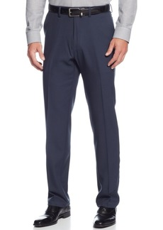 Kenneth Cole Reaction Straight-Fit Stretch Gabardine Solid Dress Pants