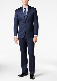 Kenneth Cole Reaction Techni-Cole Navy Mini-Stripe Slim-Fit Suit