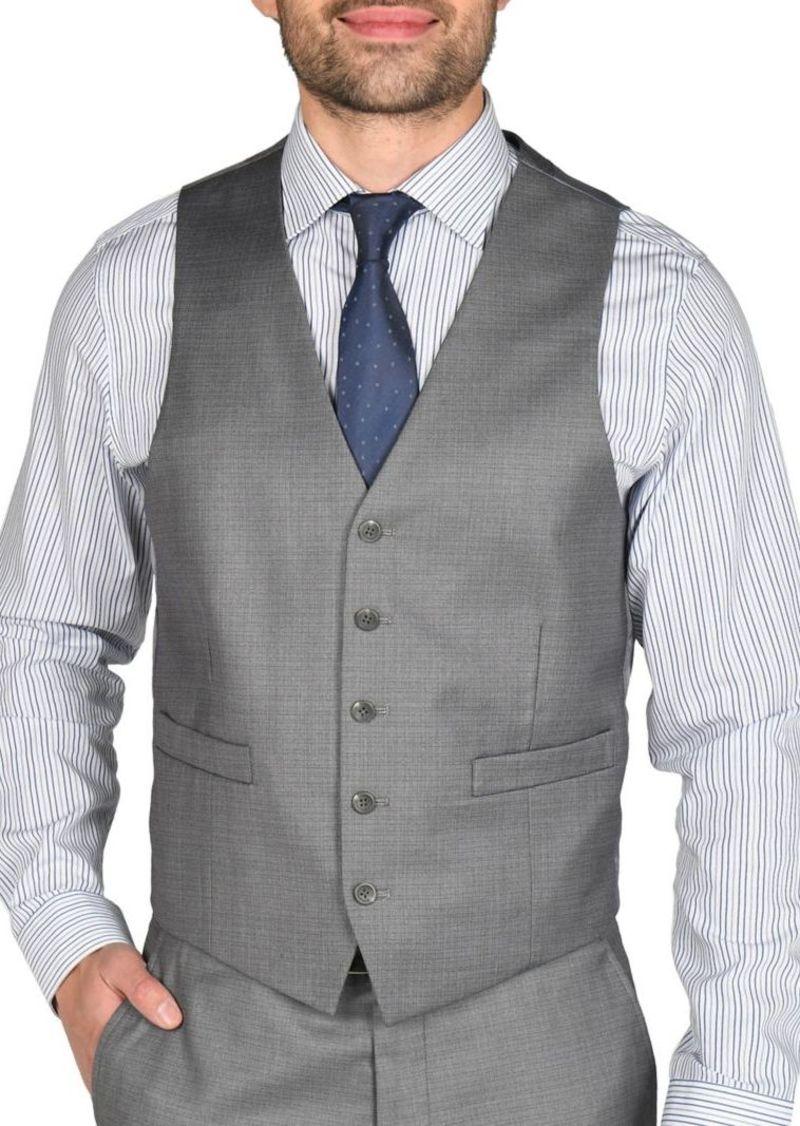 Kenneth Cole REACTION Techni-Cole Slim-Fit Suit Separate Vest