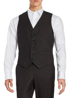 Kenneth Cole REACTION Textured Button-Front Vest