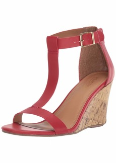 Kenneth Cole REACTION Women's Ava Great T-Strap Wedge Sandal   M US