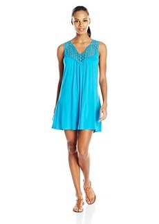 Kenneth Cole Reaction Women's Beach Bum Solid Crochet Dress Cover Up