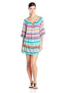 Kenneth Cole Reaction Women's Beachside Beauty Tie Neck Tunic