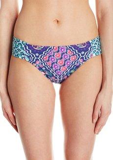 Kenneth Cole Reaction Women's Bohemiam Spirit Print Sash Tab Hipster Bikini Bottom  L