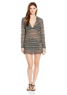 Kenneth Cole Reaction Women's Burnout Long Sleeve Sweater