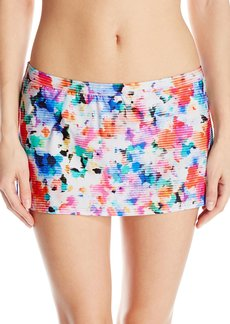 Kenneth Cole Reaction Women's Cabana Cutie Straight Skirted Bikini Bottom