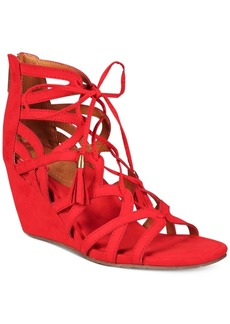 Kenneth Cole Reaction Women's Cake Pop Gladiator Lace-Up Wedge Sandals Women's Shoes