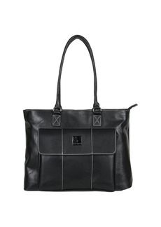 """Kenneth Cole Reaction Women's Casual Fling Pebbled Faux Leather 16"""" Laptop Business Travel Tote  Top Zip"""