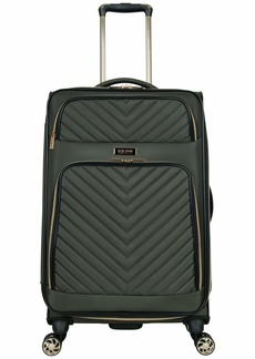 """Kenneth Cole Reaction Women's Chelsea 24"""" Chevron Quilted Softside Expandable 8-Wheel Spinner Checked Suitcase  Inch"""