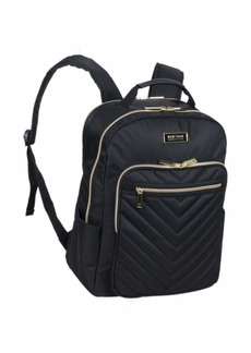 Kenneth Cole Reaction Women's Chelsea Backpack Chevron Quilted 15-Inch Laptop & Tablet Fashion Bookbag Daypack