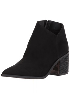 Kenneth Cole REACTION Women's Cue The Music Bootie Ankle Notch Western Style Micro   M US