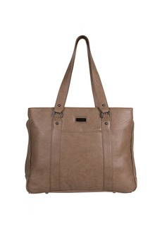 "Kenneth Cole Reaction Women's Faux Leather Triple Compartment Top Zip 15.0"" Computer Business Laptop Tote"