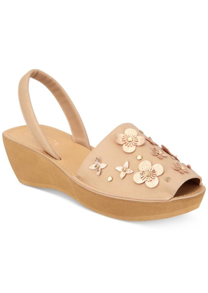 c308967c7d4 Kenneth Cole Reaction Women s Fine Glass Floral Wedge Sandals Women s Shoes