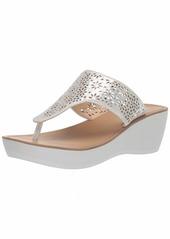 Kenneth Cole REACTION Women's Fine Glitz T-Strap Platform Sandal Wedge   M US