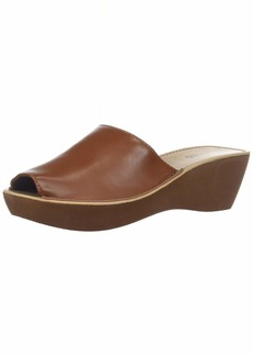 Kenneth Cole REACTION Women's Fine Mule Platform Slide Sandal Wedge   M US