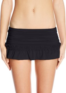 Kenneth Cole Reaction Women's for the Frill of It Ruffle Skirted Bikini Bottom with Rouching  S