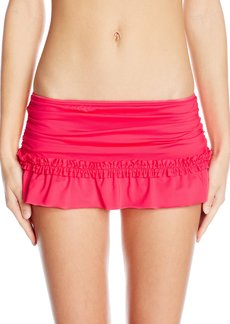 Kenneth Cole Reaction Women's for the Frill of It Ruffle Skirted Bikini Bottom with Rouching  XL