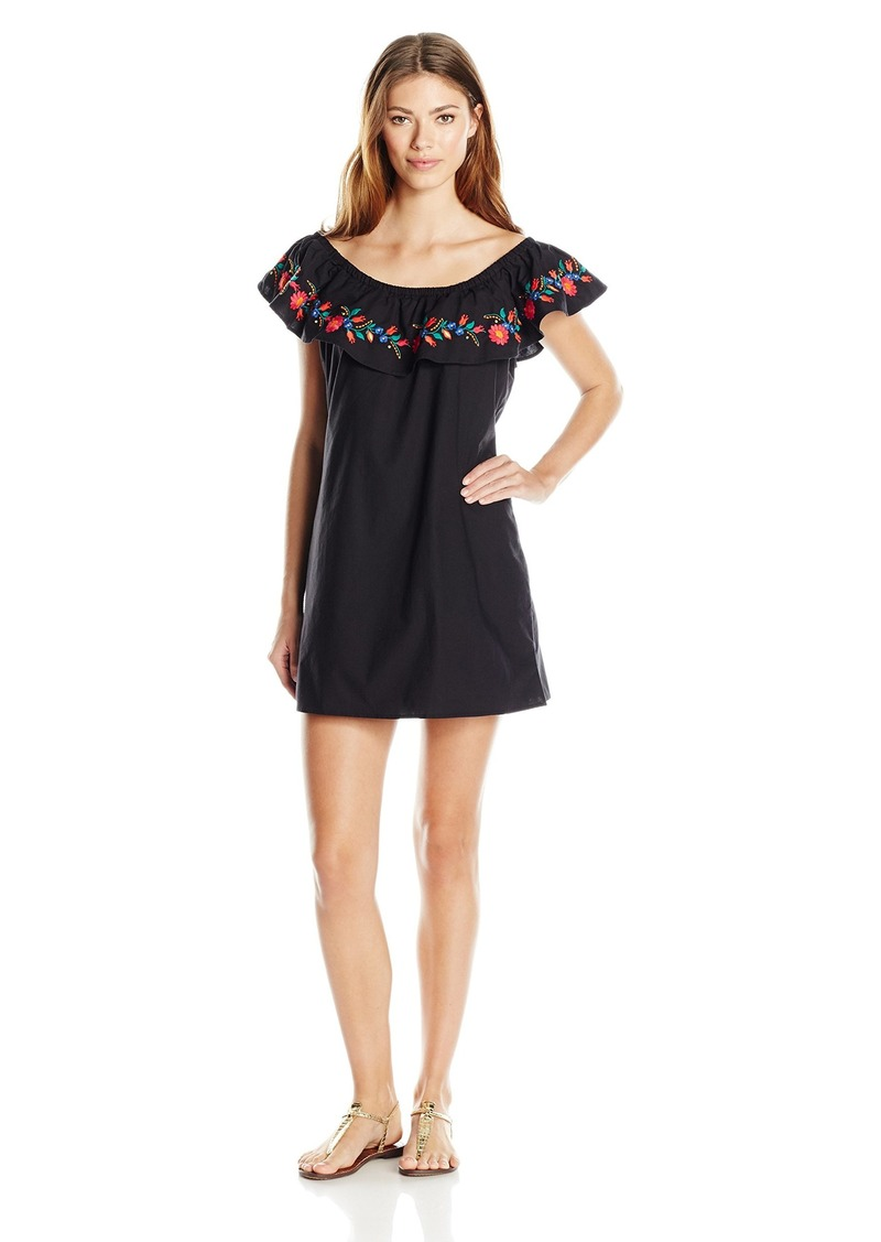 Kenneth Cole REACTION Women's Garden Groove Embroidered Dress Cover Up  M