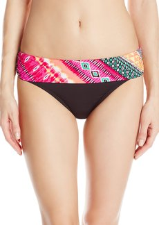 Kenneth Cole Reaction Women's Get Rio Stripe Sash Hipster Bikini Bottom