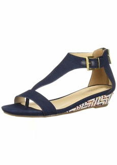 Kenneth Cole REACTION Women's Great Gal T-Strap Low Wedge Sandal   M US
