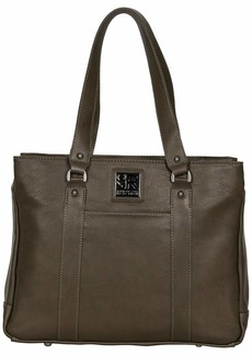 """Kenneth Cole Reaction Women's Hit Pebbled Faux Leather Triple Compartment 15"""" Laptop Business Tote"""