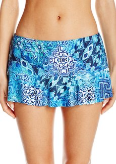 Kenneth Cole Reaction Women's Hit The  Flounce Skirted Bikini Bottom