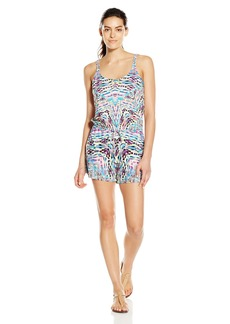Kenneth Cole REACTION Women's Hot to Trot Tribal Romper Cover up