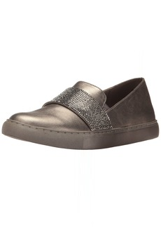 Kenneth Cole REACTION Women's Kam Slip On Fashion Sneaker with Mini Jewel Strap Accent Metallic   M US